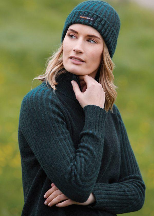 MKM womens technical wool sweater model