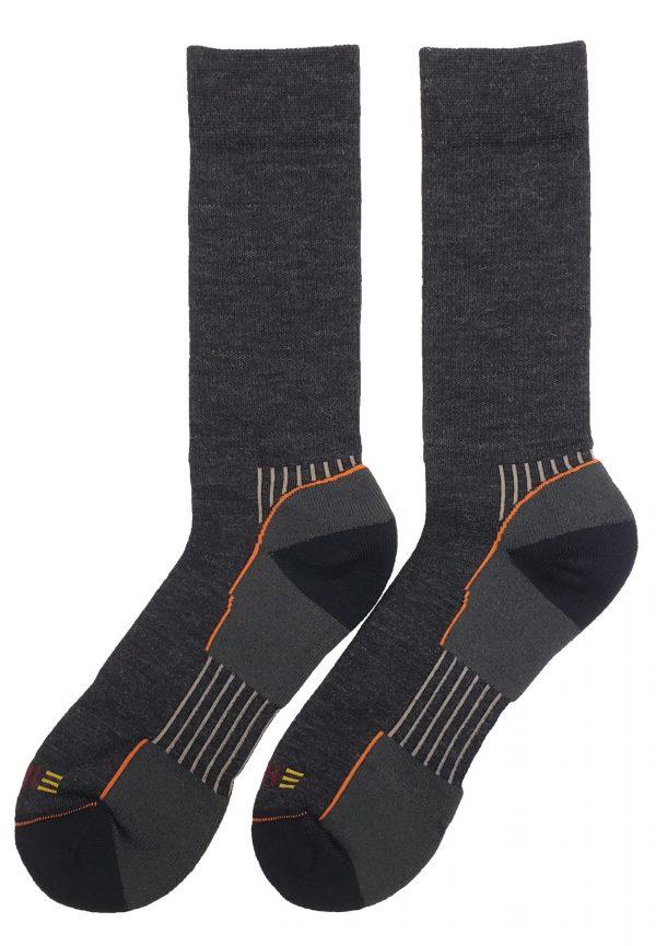 multisport wool crew sock charcoal